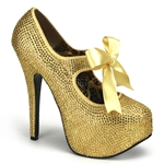 Teeze Rhinestone Platform Mary Jane Pumps 34-4298