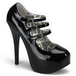 Teeze Triple Strap Platform Mary Jane Pumps