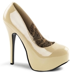 Teeze Basic Cream Platform Pumps