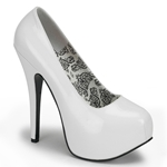 Teeze Basic White Platform Pumps