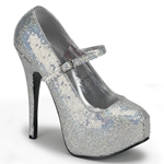 Teeze Hologram Buckle Strap Platform Pumps