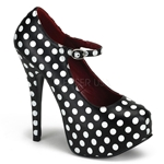 Teeze Polka Dot Buckle Strap Platform Pumps