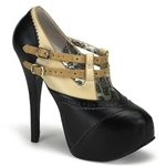 Teeze Double Strap Platform Pumps