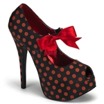 Teeze Polka Dot Mary Jane Platform Pumps 34-4336