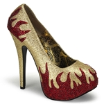 Teeze Flame Platform Pumps 34-4338
