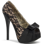 Teeze Champagne and Lace Platform Pumps