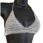 Chain Mail Armor Bikini String Tie Top C Cup