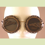 Steampunk Blackout Frill Goggles 35-2004