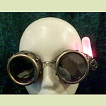 Steampunk Glow Frill Tube Goggles 35-2006