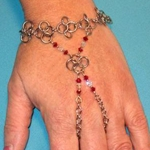 Flower Petal Chain Mail Bracelet