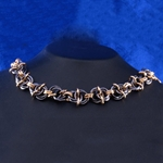 Black and Gold Chainmail Bracelet