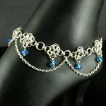 Chainmail Anklet with Blue Crystals 37-4045