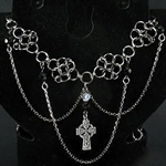 Celtic Cross Chainmail Necklace 37-4094