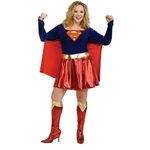 Supergirl Adult Plus Costume 38-31306