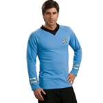 Star Trek Classic Blue Shirt Deluxe Adult Costume 38-60286