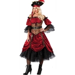 Swash Bucklin' Scarlet Elite Adult Costume 38-800117