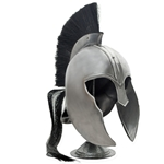 Trojan helmet w/ black brush & stand
