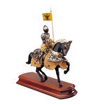 Miniature Black Knight on Horseback MA5600