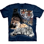Big Cat Collage Adult 2X-Large T-Shirt 43-1010650