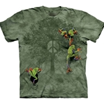 Peace Tree Frog Adult T-Shirt 43-1022890