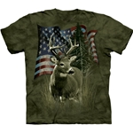 Deer Flag Adult T-Shirt 43-1031080