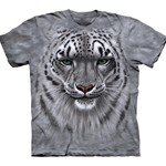 Snow Leopard Portrait Adult T-Shirt 43-1031810
