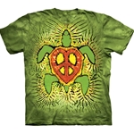 Rasta Peace Turtle Adult T-Shirt 43-1032280