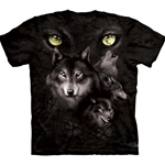 Moon Eyes Collage Adult T-Shirt 43-1032320
