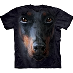 Doberman Face Adult T-Shirt 43-1032560