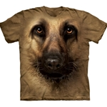 German Shepherd Face Adult T-Shirt 43-1032580