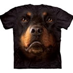 Rottweiler Face Adult T-Shirt 43-1032630