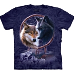 Dreamcatcher Wolves Adult T-Shirt 43-1032680