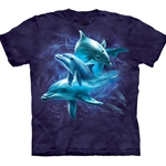 Dolphin Collage Adult T-Shirt 43-1032840