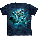 Sea Turtle Collage Adult T-Shirt 43-1032880