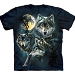 Moon Wolves Collage Adult T-Shirt 43-1033090