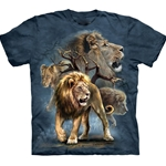Lion Collage Adult T-Shirt 43-1033160