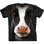 Black Cow Face Adult 2X-Large T-Shirt 43-1033470