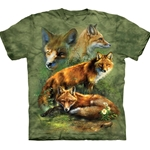 Red Fox Collage Adult T-Shirt 43-1033540