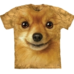 Pomeranian Face Adult T-Shirt 43-1033650