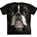 Boston Terrier Face Adult 2X-Large T-Shirt 43-1033670