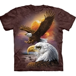 Eagle and Cloud Adult T-Shirt 43-1033700