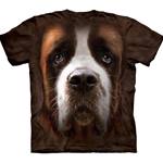 Saint Bernard Face Adult T-Shirt 43-1034180