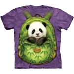 Backpack Panda Adult T-Shirt 43-1034340