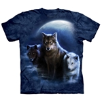 Three Wolf Night Adult T-Shirt 43-1034360