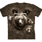 Bear Eyes Adult 2X-Large T-Shirt 43-1034390