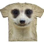 Meerkat Face Adult T-Shirt 43-1034430