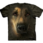 German Shepherd Portrait Adult T-Shirt 43-1034450