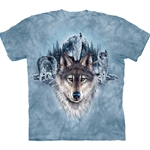 Blue Moon Wolves Adult Plus Size T-Shirt 43-1034500