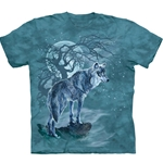 Wolf Tree Silhouette Adult T-Shirt 43-1034790