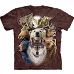 Northern Wildlife Collage Adult T-Shirt 43-1034800